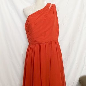 Alfred Angelo formal floor length rust dress